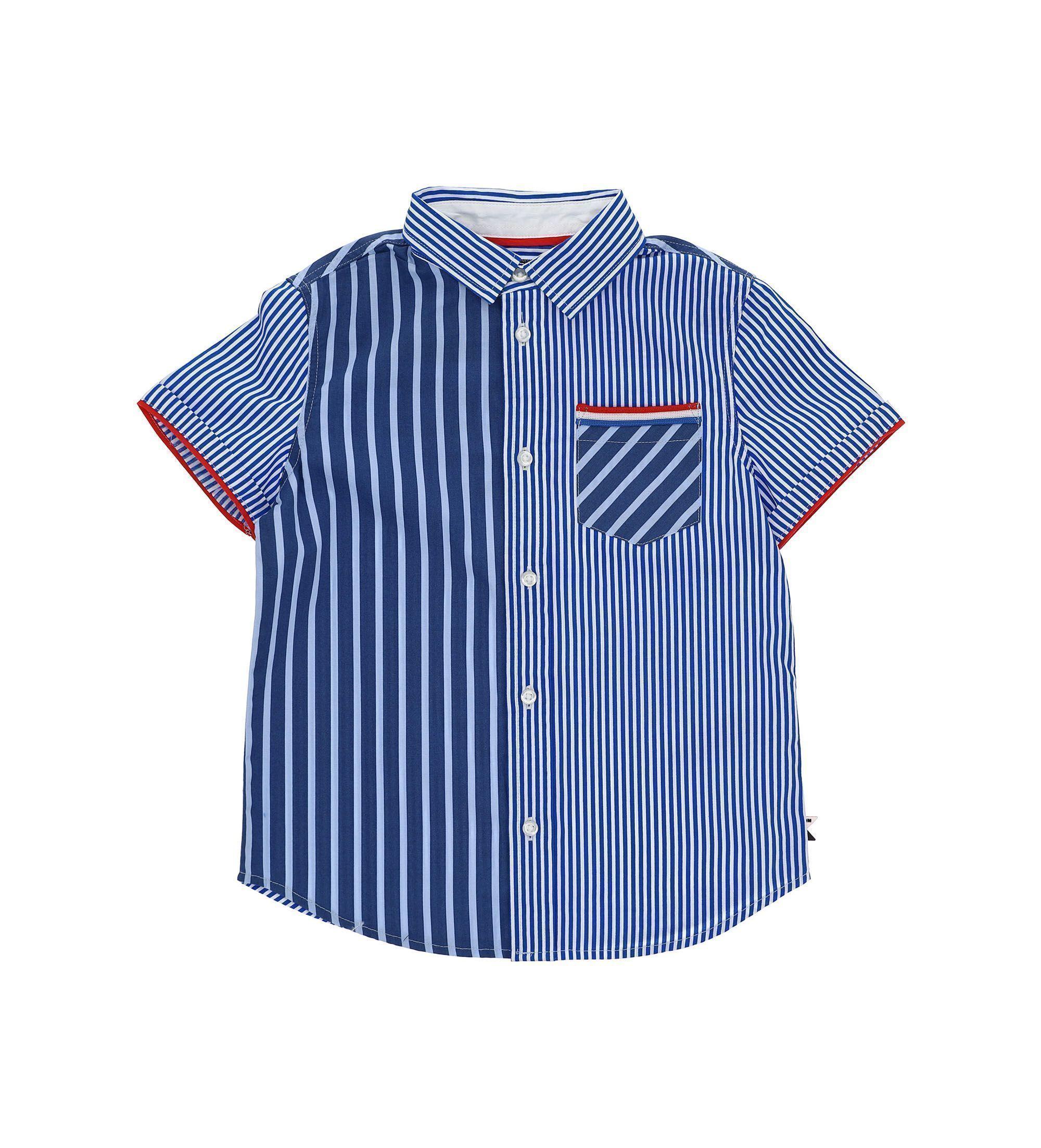 Купить Рубашка с коротким рукавом Original Marines, синий, 128, Мальчики, весна