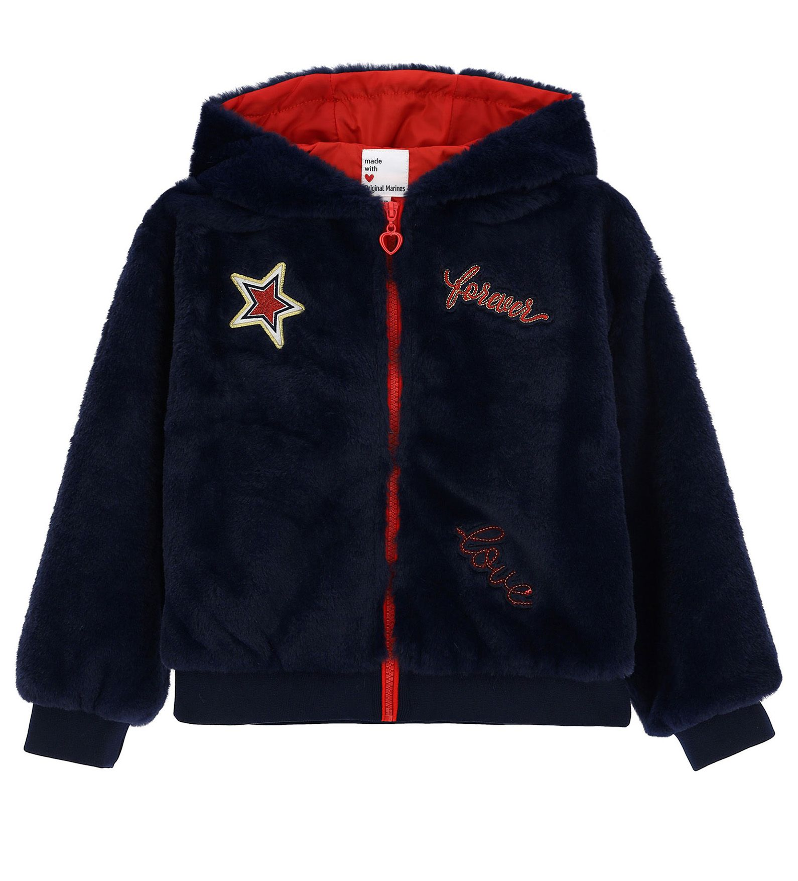 Купить Куртка экомех Original Marines, синий, 98, Девочки, зима