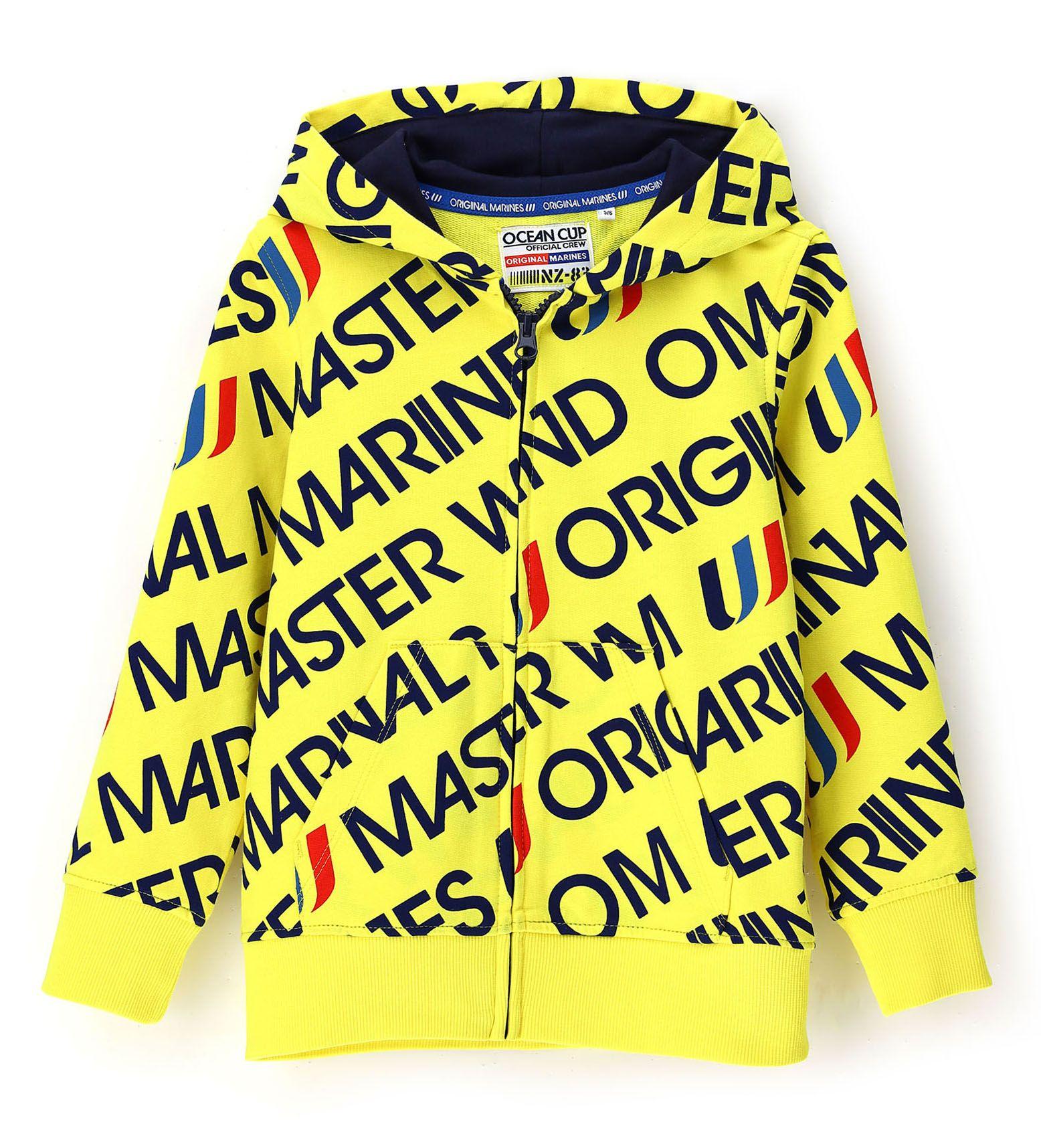 Купить Толстовка на молнии Original Marines, желтый, 116, Мальчики, весна