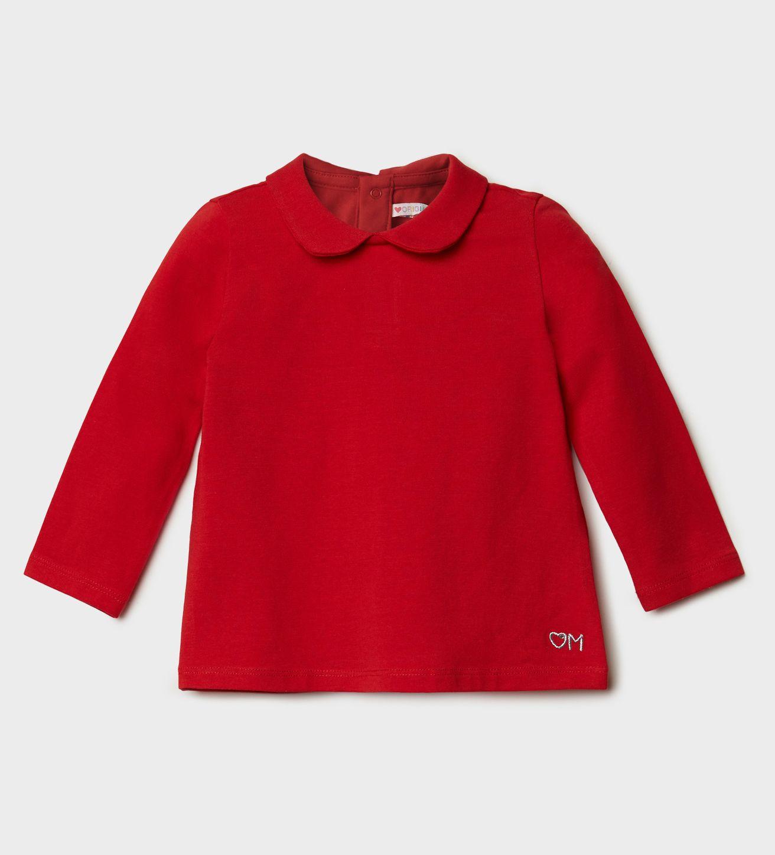 Купить Лонгслив, Футболка с длинным рукавом Original Marines, красный, 74, Девочки, зима
