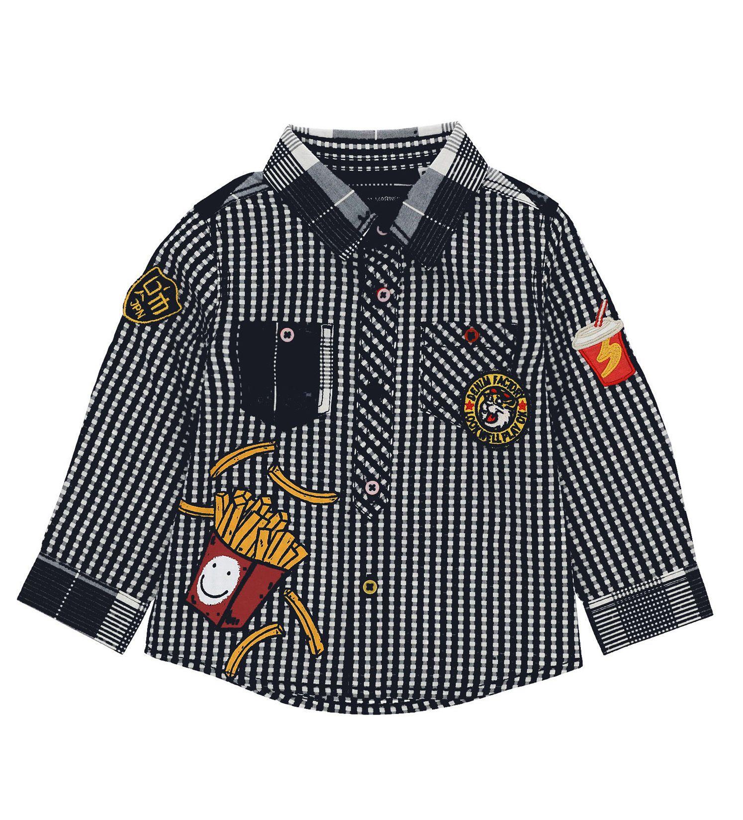 Купить Рубашка с длинным рукавом Original Marines, синий, 80, Мальчики, весна