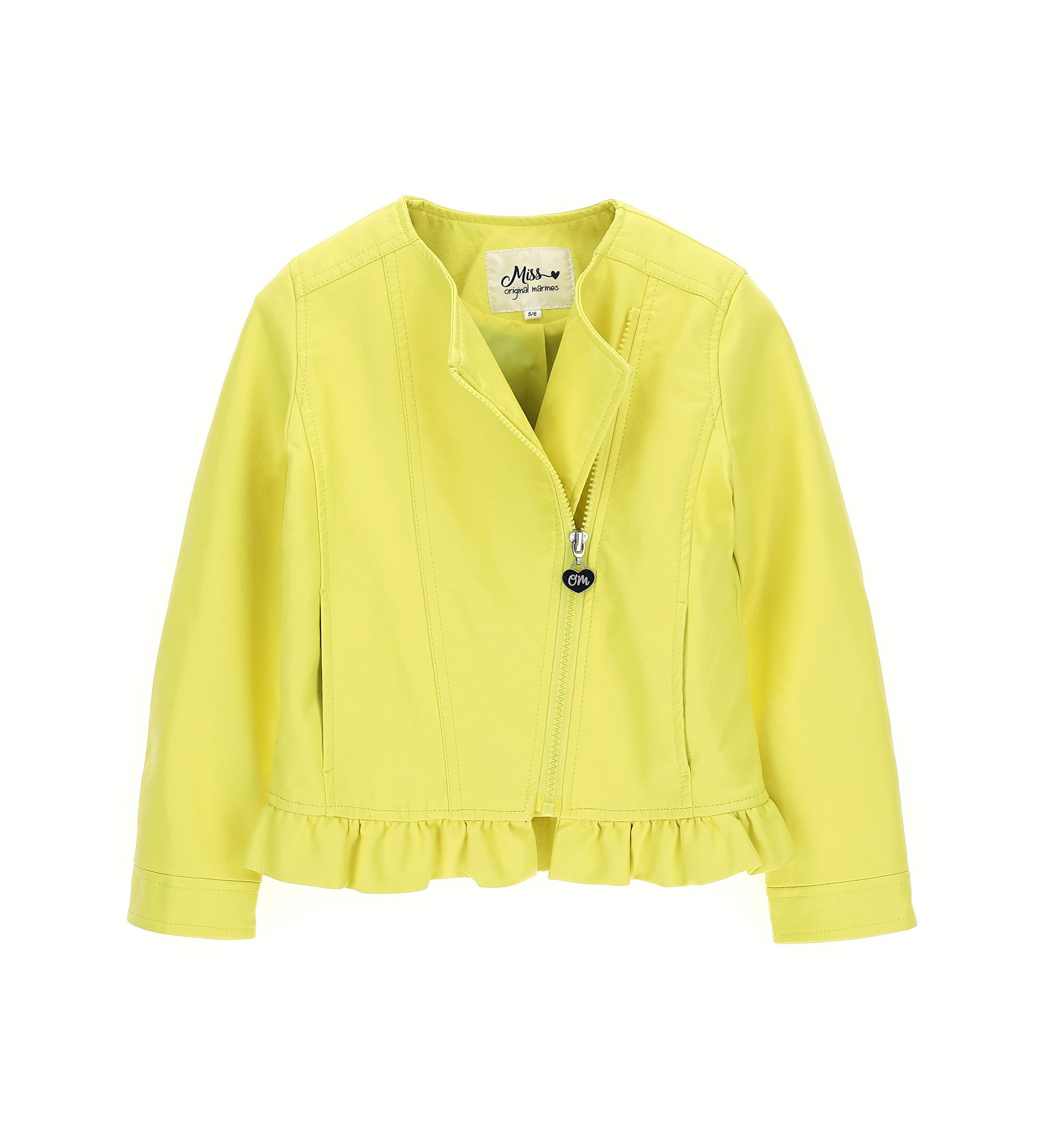 Купить Куртка, экокожа Original Marines, желтый, 152, Девочки, весна