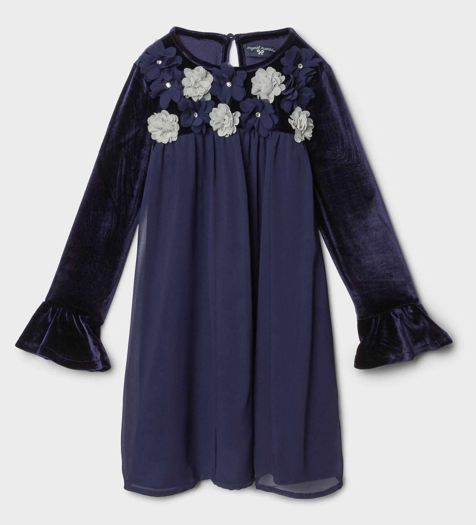 Купить Платье Original Marines, синий, 116, Девочки, зима