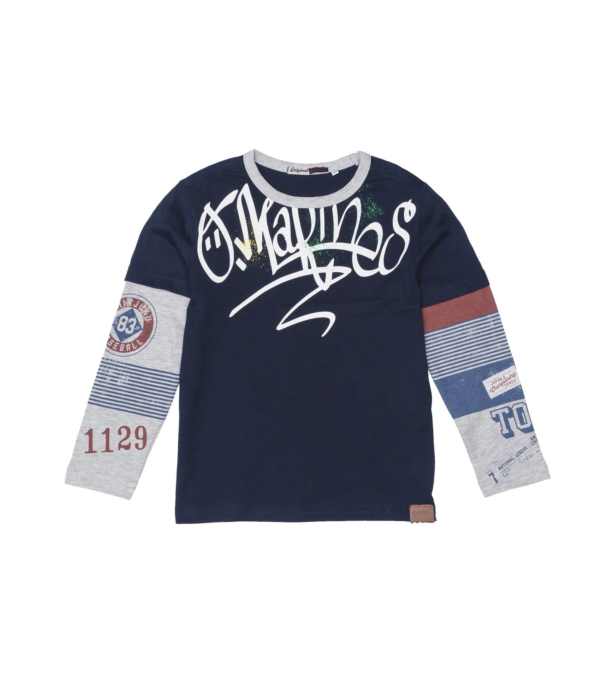 Купить Лонгслив, Футболка с длинным рукавом Original Marines, синий, 164, Мальчики, весна