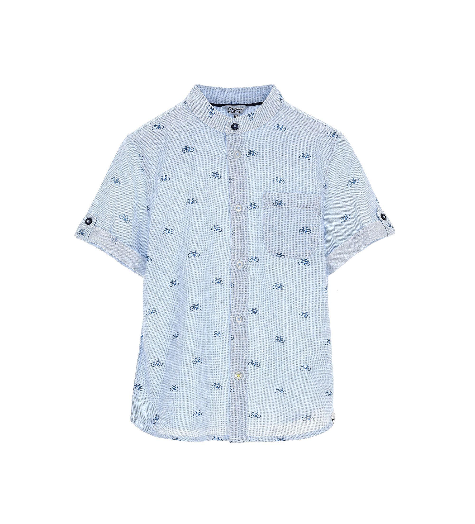Купить Рубашка с коротким рукавом Original Marines, голубой, 164, Мальчики, весна