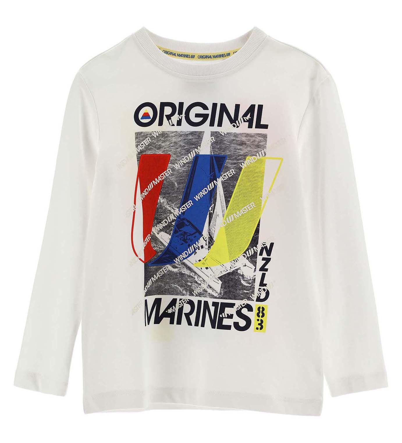 Купить Лонгслив Original Marines, белый, 152, Мальчики, весна