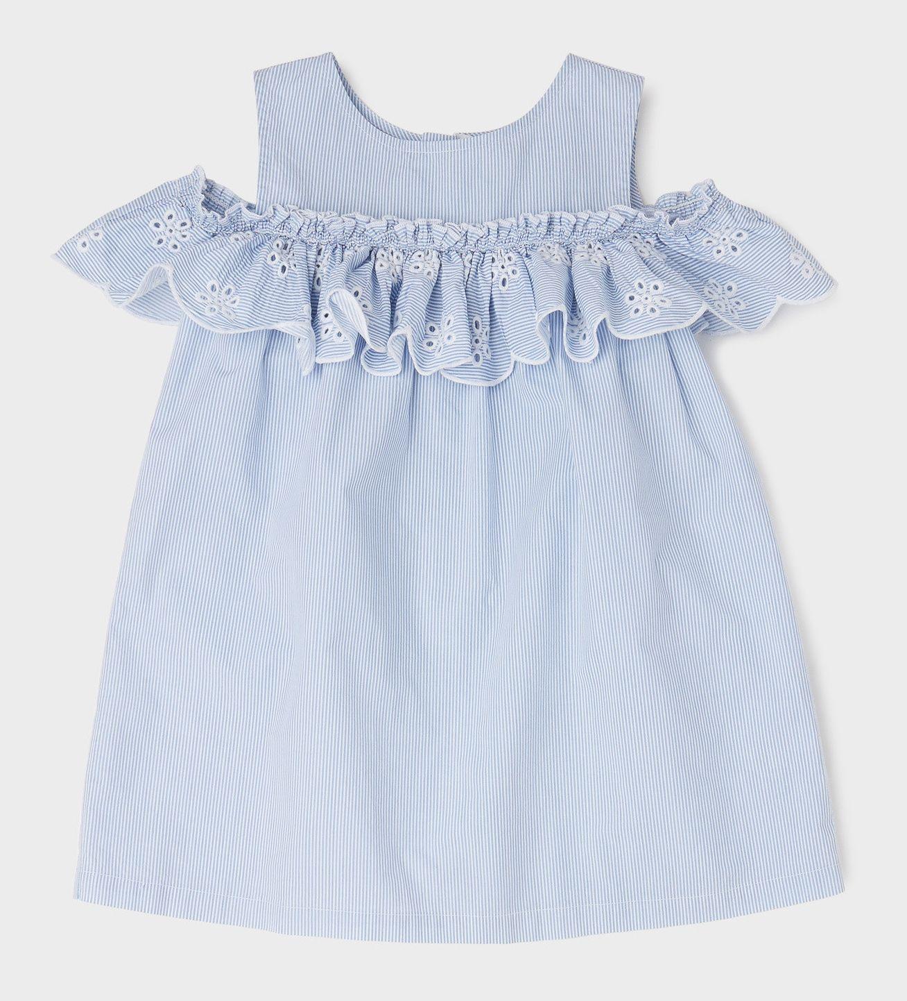Купить Платье Original Marines, голубой, 140, Девочки, весна