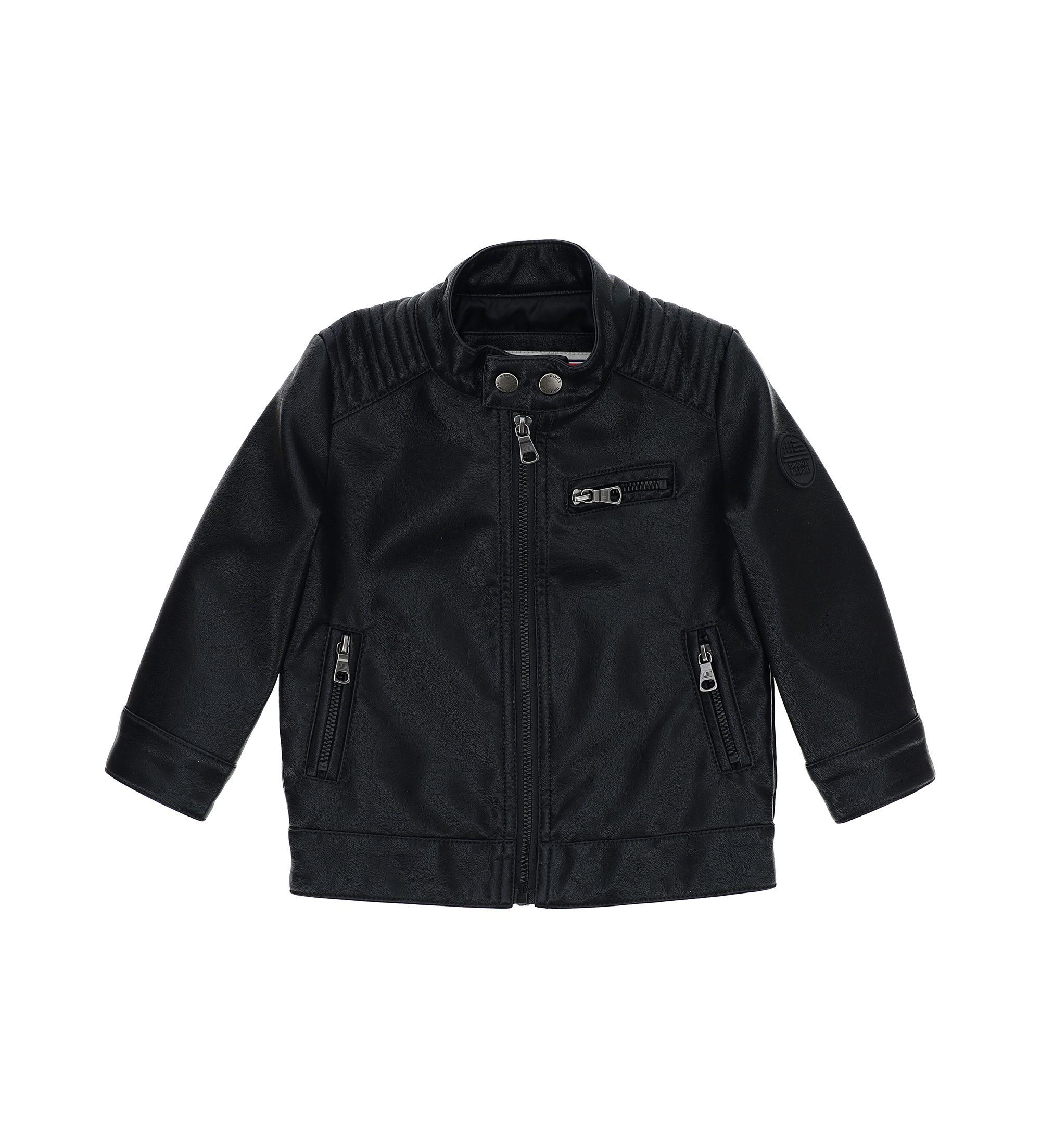 Купить Куртка, экокожа Original Marines, черный, 80, Мальчики, весна