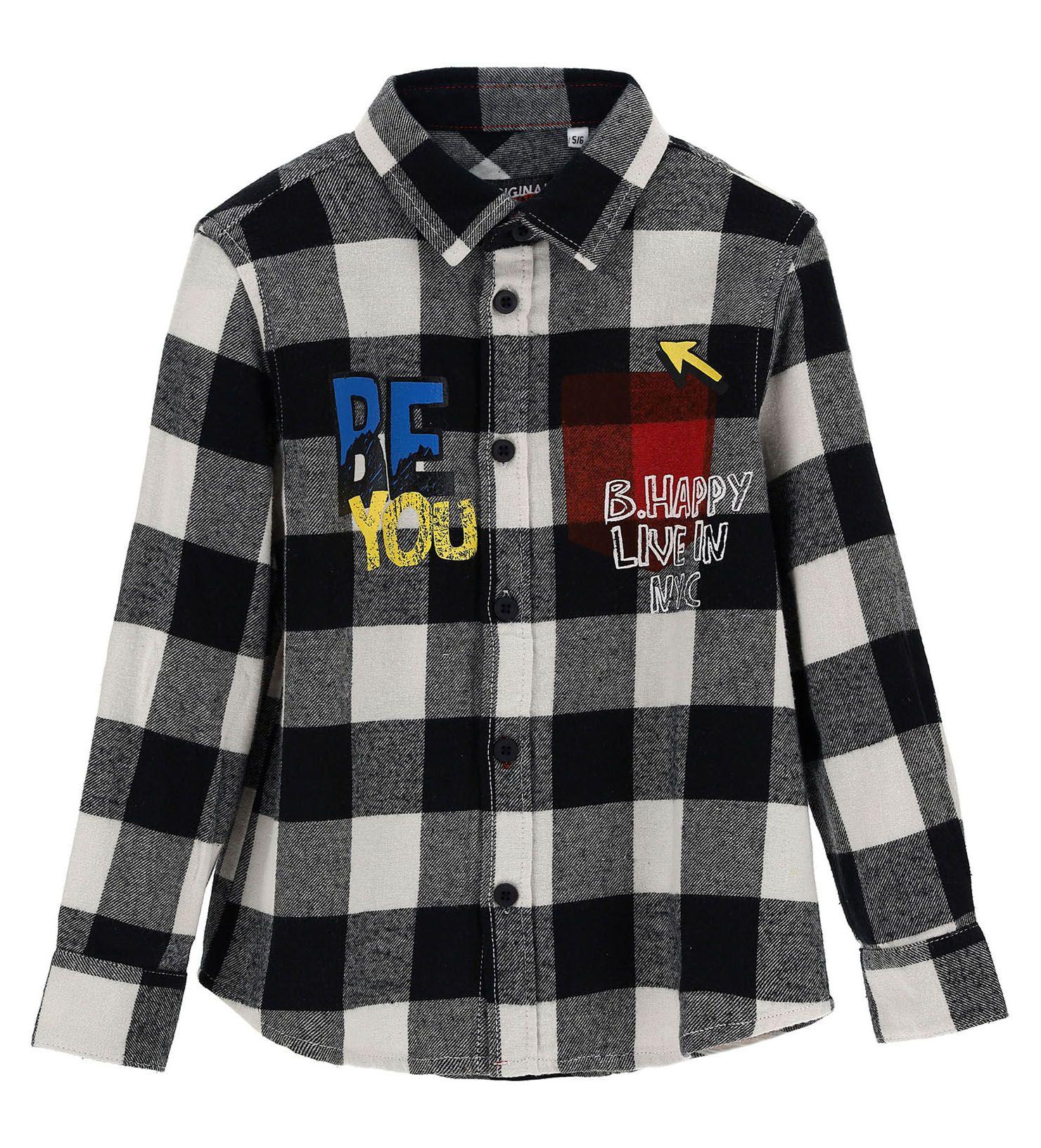 Купить Рубашка с длинным рукавом Original Marines, серый, 98, Мальчики, зима