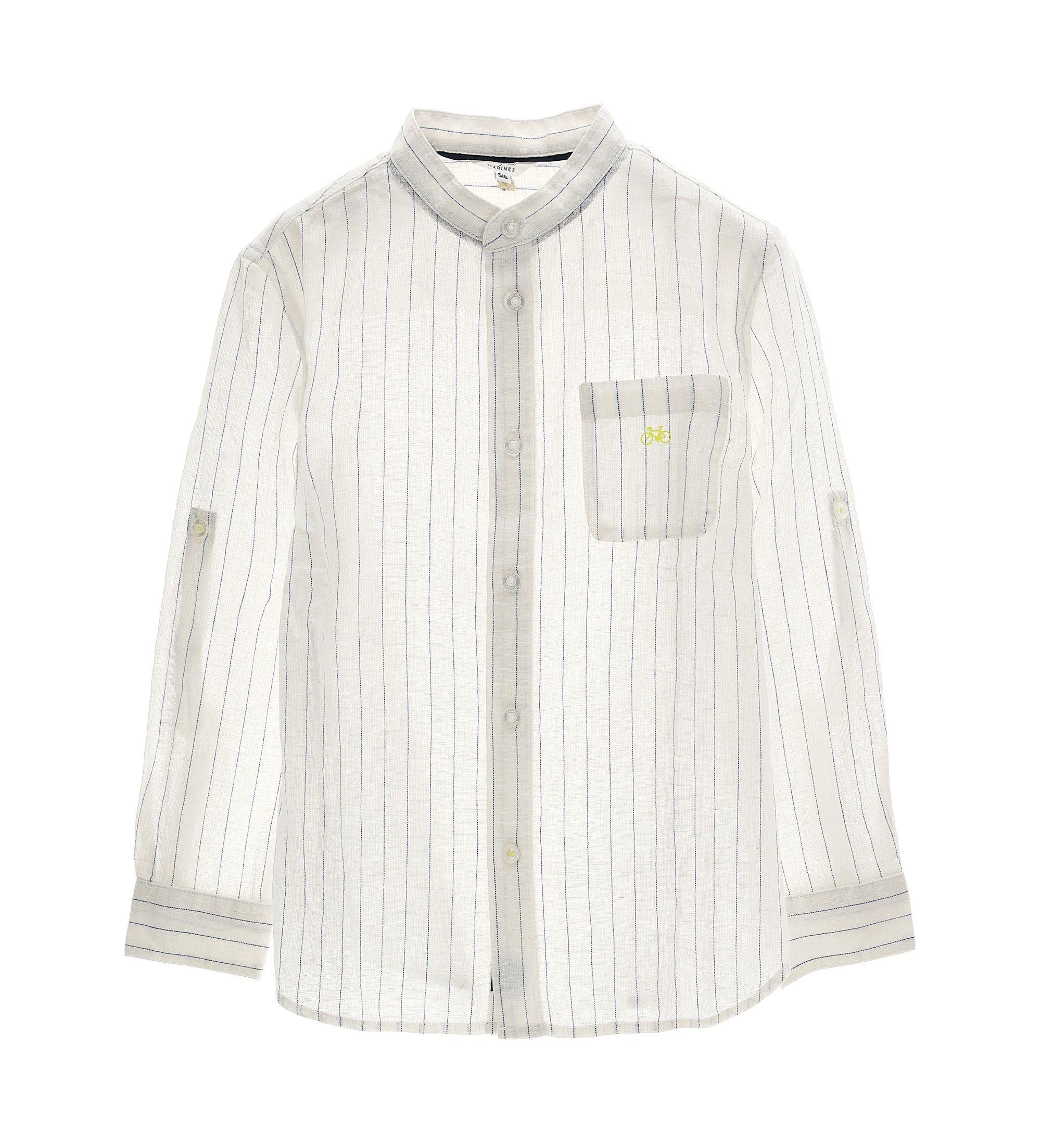 Купить Рубашка с длинным рукавом Original Marines, белый, 116, Мальчики, весна