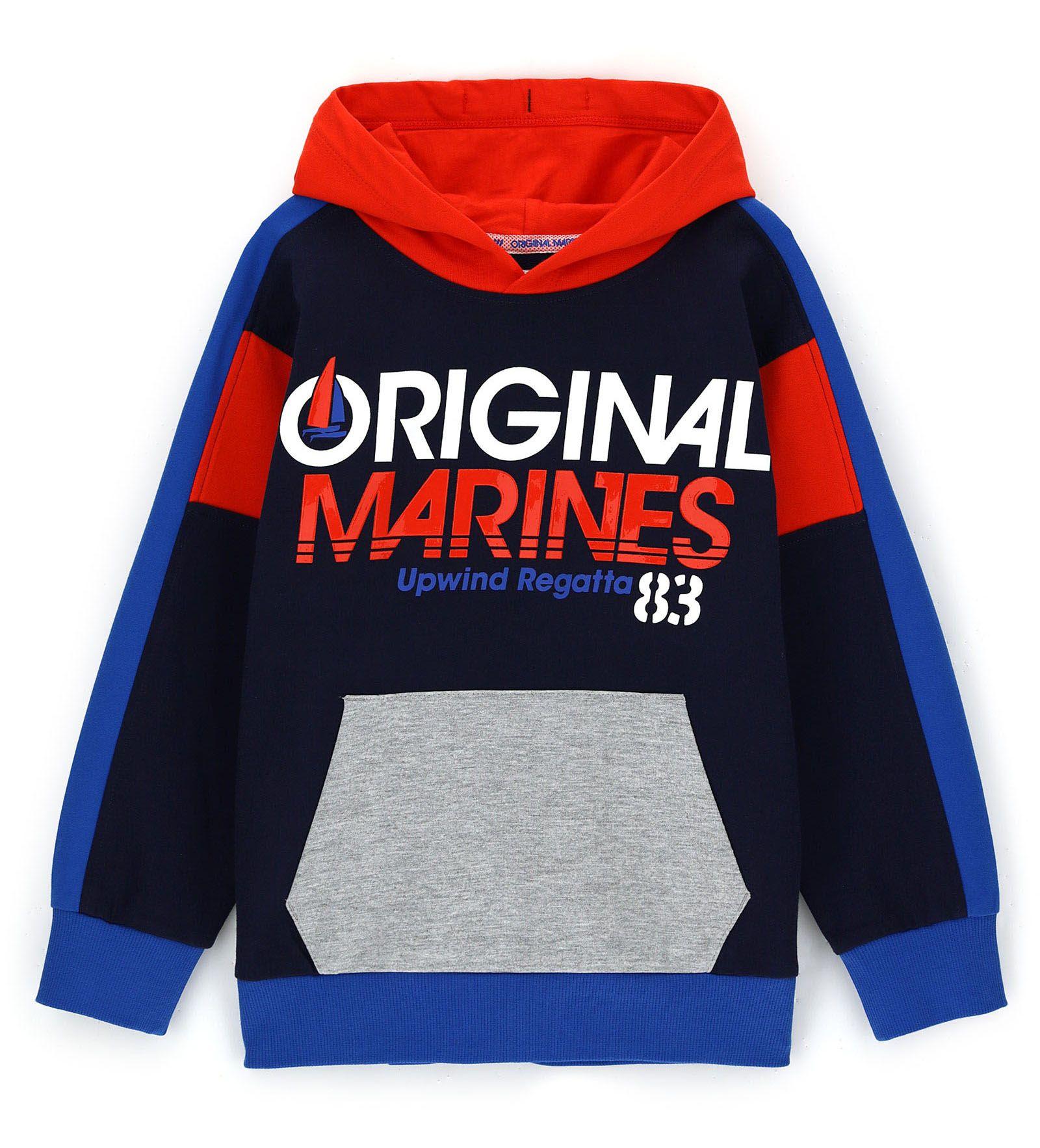 Толстовка Original Marines, синий, 116, Мальчики, весна  - купить со скидкой